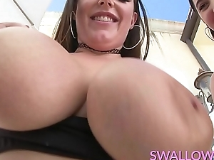 Drank Karlee Age-old and Angela White deepthroat time