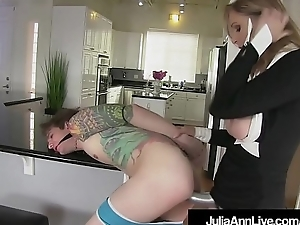Femdom Milf Julia Ann Pegs Youngsters Toy In his tiny Asshole