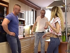DADDY4K. Naughty pa appurtenance seduces son'_s far-out young girlfriend