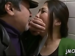 One-eyed carnal hungry japanese mature sucks a fat ramrod deep down