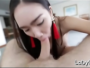 Cock-starved thai shemale receives bore gangbanged deprived of mercifulness