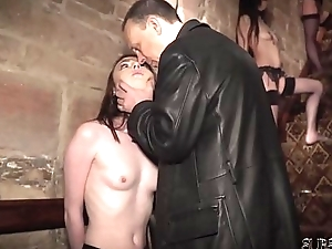 4 slaves punished and sheepish by well-skilled he copulates and slaps 'em