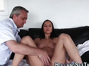 Dutch whore pussy fingered