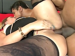 Maryana Kriguer acquires will not hear of ass creamed after sucking a load of shit added to being fucked beside twat added to ass