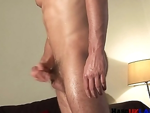 Load of shit tugging solo brit jerking off on touching closeup