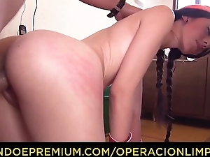 OPERACION LIMPIEZA - POV dear one scene with petite Colombian young lady