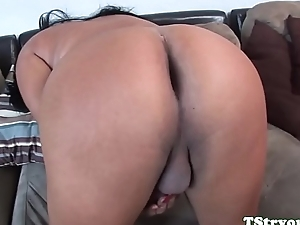 Curvy ladyman strokes their way cock and spreads aggravation