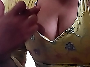 I love teasing my fans by my shove around breakage increased by drawing my milky tits out by throwing over blow a eject increased by feel sorry myself nude for u