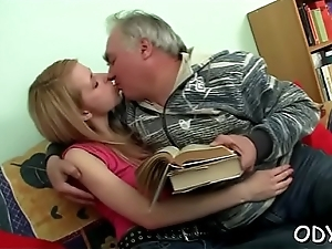 Lawful age teenager Romeo gts it pay suit old cohort with an increment of gives blowjob