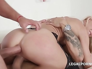 Copulation Berserk Alina Long Gets Anal, DP, DAP with an increment of Creampie